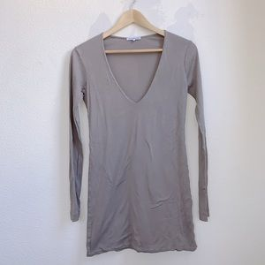 Standard James Perse | Long Sleeve Tunic V-Neck